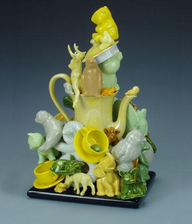 Yellow Menagerie Teapot