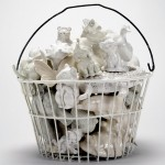SOLD-White Basket