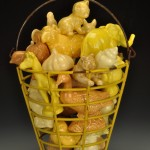 SOLD-Petite Yellow Basket